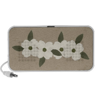 Dogwood Blossoms Doodle Speaker