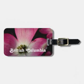 Dogwood de la Columbia Británica Etiquetas De Equipaje
