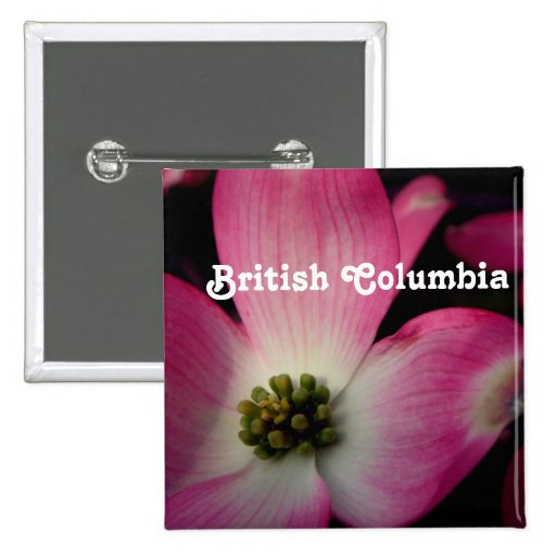 Dogwood de la Columbia Británica Pin