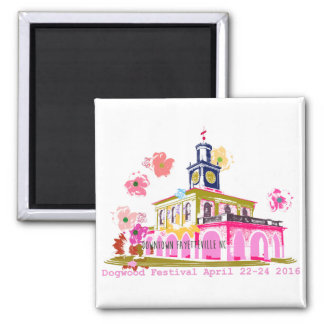 Dogwood Festival 2016 downtown Fayetteville NC 2 Inch Square Magnet