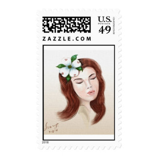 dogwood flower girl postage