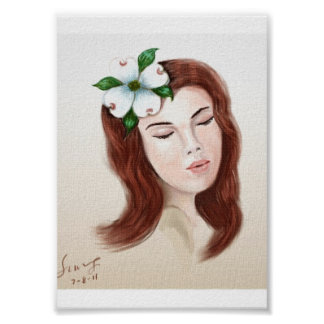 Dogwood Flower Girl Poster