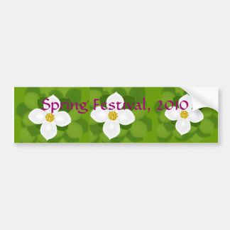 Dogwood Flower on green background Bumper Stickers