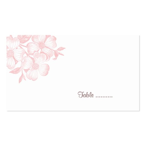 Dogwood Flower Place Card Business Card