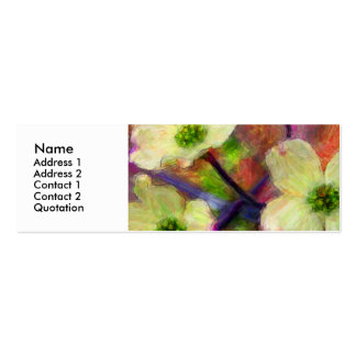Dogwood Flower Profile Card Double-Sided Mini Business Cards (Pack Of 20)