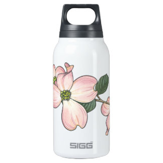 Dogwood Flower 10 Oz Insulated SIGG Thermos Water Bottle
