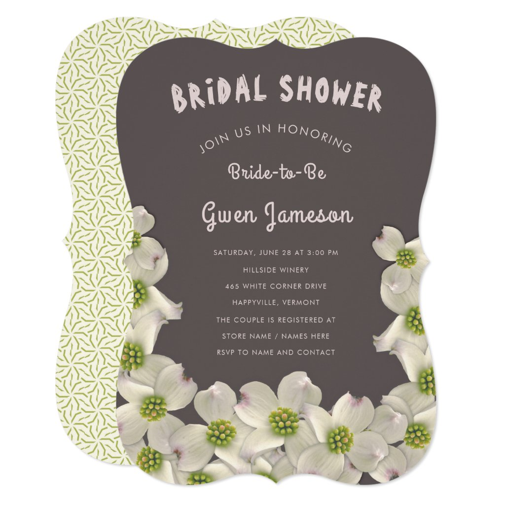Dogwood Flowers Bridal Shower Invitation