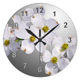 Dogwood Flowers Wall Clocks