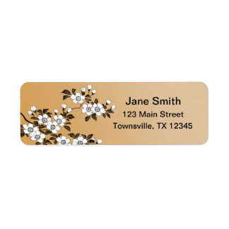 Dogwood Flowers Label