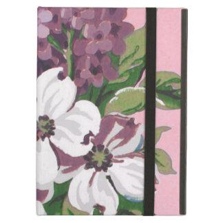 Dogwood & Lilacs Fine Vintage Floral Wallpaper iPad Air Cases