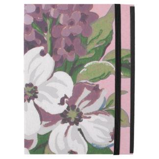 Dogwood & Lilacs Fine Vintage Floral Wallpaper iPad Pro Case