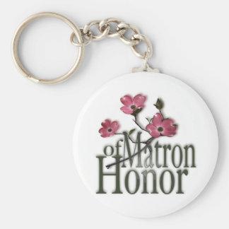 Dogwood/ Matron of Honor Keychains
