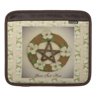 Dogwood Pentacle Wreath Floral Pattern Sleeves For iPads