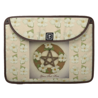 Dogwood Pentacle Wreath Floral Pattern Sleeve For MacBooks
