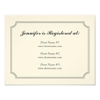 Dogwood Plaid Registry Card