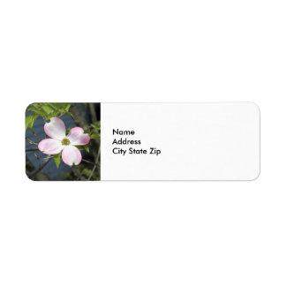 Dogwood rosado 1483 etiqueta de remite