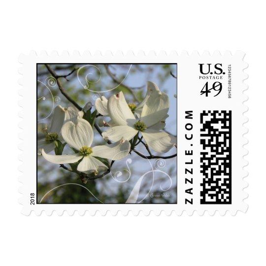 Dogwood scroll stamp