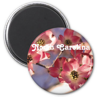 Dogwood Tree 2 Inch Round Magnet