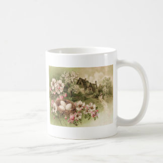Dogwood Tree Bird Nest Egg Cottage Coffee Mug