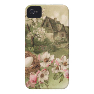 Dogwood Tree Bird Nest Egg Cottage iPhone 4 Cover