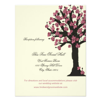 Dogwood Tree Wedding Reception Information Announcement