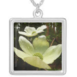 Dogwoods and Redwoods in Yosemite National Park Silver Plated Necklace