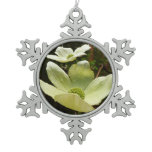 Dogwoods and Redwoods in Yosemite National Park Snowflake Pewter Christmas Ornament