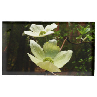 Dogwoods and Redwoods in Yosemite National Park Table Card Holder