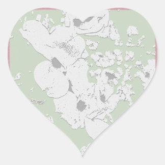 Dogwoods en los pegatinas de Ozarks por GDRL Pegatina En Forma De Corazón