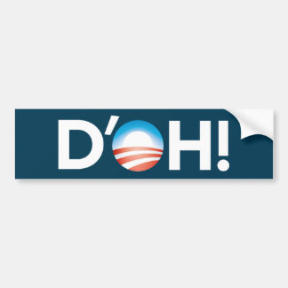 d'oh! bumper sticker