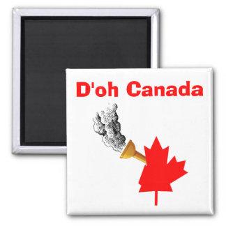 D'oh Canadá Imán Cuadrado