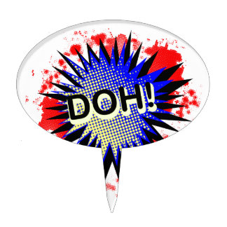 Doh Comic Exclamation Cake Topper