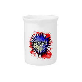 Doh Comic Exclamation Drink Pitcher