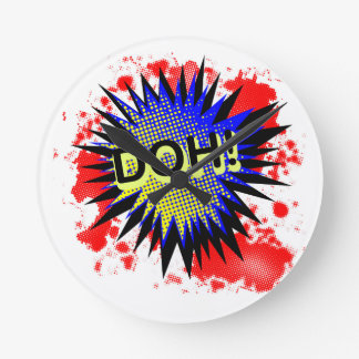 Doh Comic Exclamation Round Clock