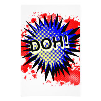 Doh Comic Exclamation Stationery