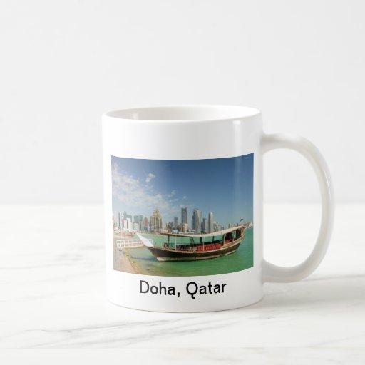 Doha 2011 dhow and skyline mugs