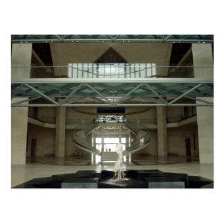 doha art museum lobby postcard