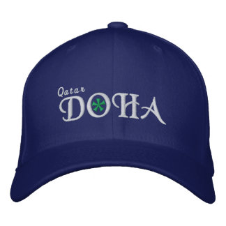 Doha City - Qatar Embroidered Baseball Caps