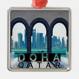 Doha Adorno Cuadrado Plateado