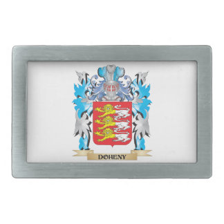 Doheny Coat of Arms - Family Crest Rectangular Belt Buckles