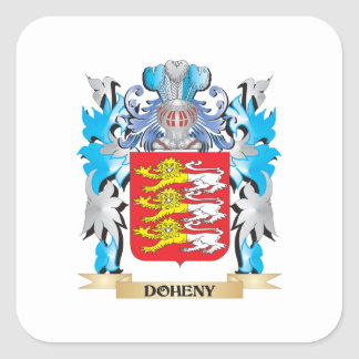 Doheny Coat of Arms - Family Crest Square Sticker