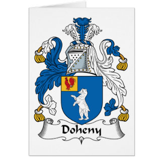 Doheny Family Crest Greeting Card