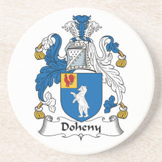 Doheny Family Crest Drink Coasters