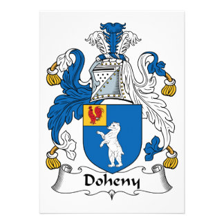 Doheny Family Crest Personalized Invitations