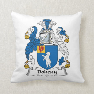 Doheny Family Crest Throw Pillow