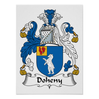 Doheny Family Crest Posters