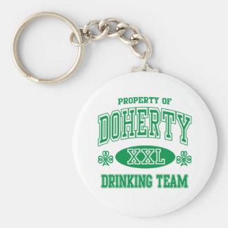 Doherty Irish Drinking Team Keychain