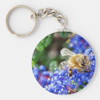 Dohr Street Bee Basic Round Button Keychain