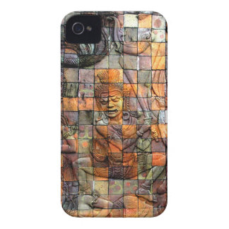 Doi Inthanon Chedi Carved Tiles 2 iPhone 4 Case-Mate Case