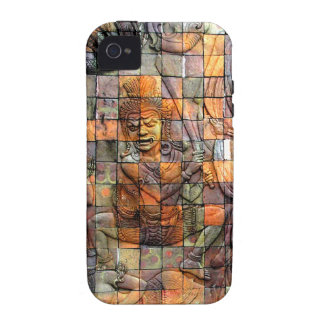 Doi Inthanon Chedi Carved Tiles 2 Vibe iPhone 4 Cover